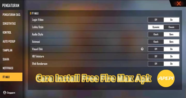Cara Install Free Fire Max Apk