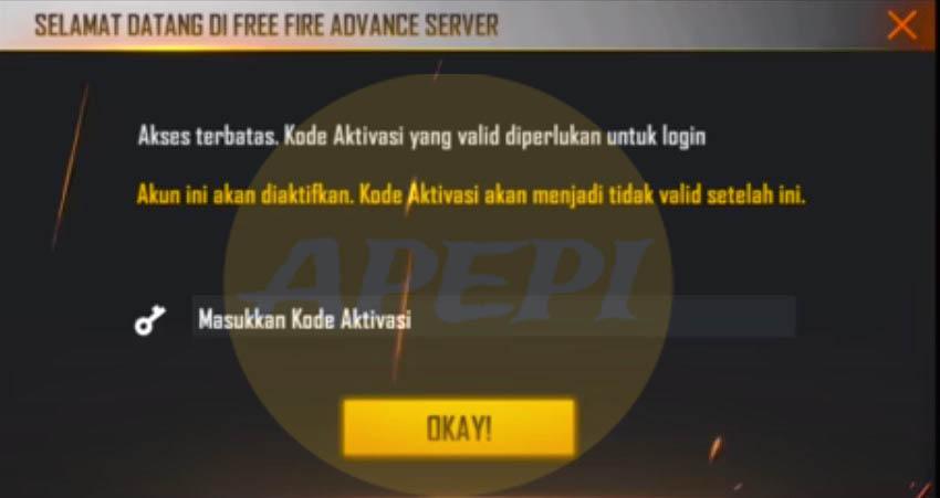 Cara Daftar FF Advance Server