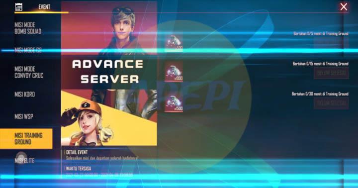 Perbedaan Advance Server FF