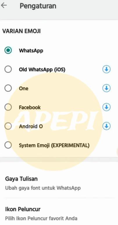Pilihan Emoji Yang Bervariasi
